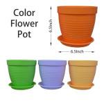 Color Flower Pot Threaded 6.5