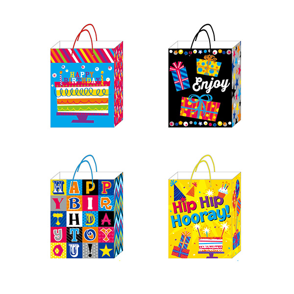 Gift Bag Birthday FLOMO 4 Assorted Extra Large BB646 L