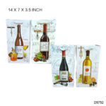 Everyday Wine Bag 4x Assorted 14×7×3.5 INCH