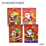 Christmas Gift Bag L 15.75 X 12 X 4.75 INCH