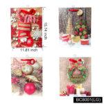 Gift Bags Xmas Glitter 4x ( LG )
