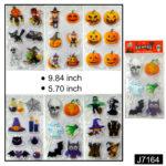 Halloween Decor Window Stickers 3D 6X