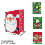 Gift Bags Chistmas Glitter 4x (2018XL)