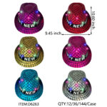 New Year Sequin Light Up 6x Assorted
