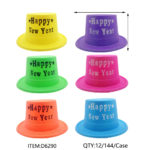 New Year Glitter Hat 6x Assorted